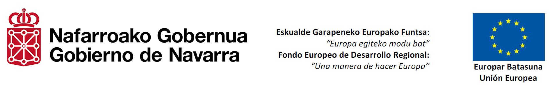 Esta empresa ha recibido ayudas cofinanciadas al 50% por el Fondo Europeo de Desarrollo Regional a través del Programa Operativo FEDER 2014-2020 de Navarra. Esta empresa ha recibido ayudas cofinanciadas al 50% por el Fondo Europeo de Desarrollo Regional a través del Programa Operativo FEDER 2014-2020 de Navarra.Esta empresa ha recibido una ayuda del Gobierno de Navarra en virtud de la convocatoria de 2021 de Fomento de la Empresa Digital Navarra.