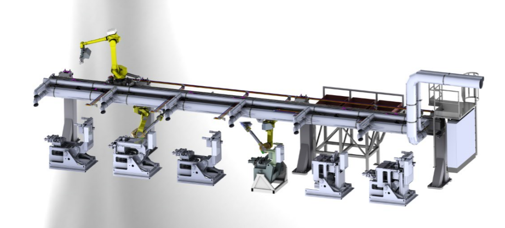 Fully automated gravity aluminium injection line