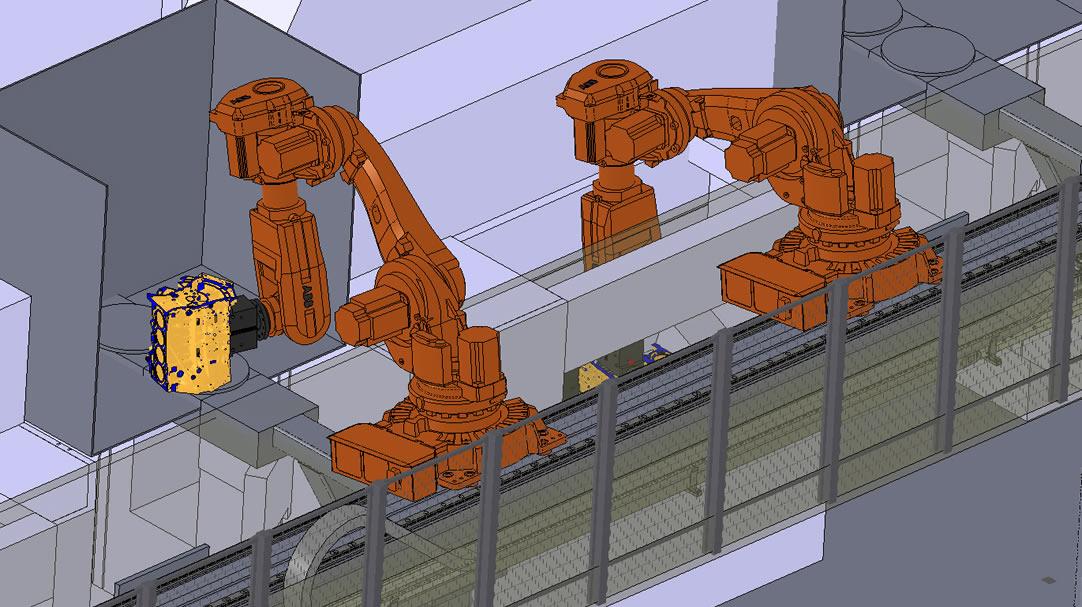 Línea de mecanizado para bloque motor