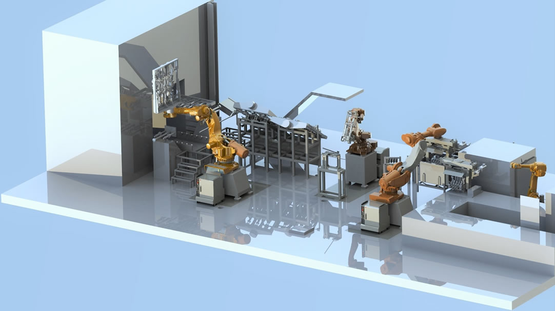 Motor block core production line
